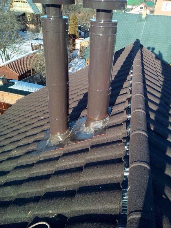 Сложные дымоходы для частного дома