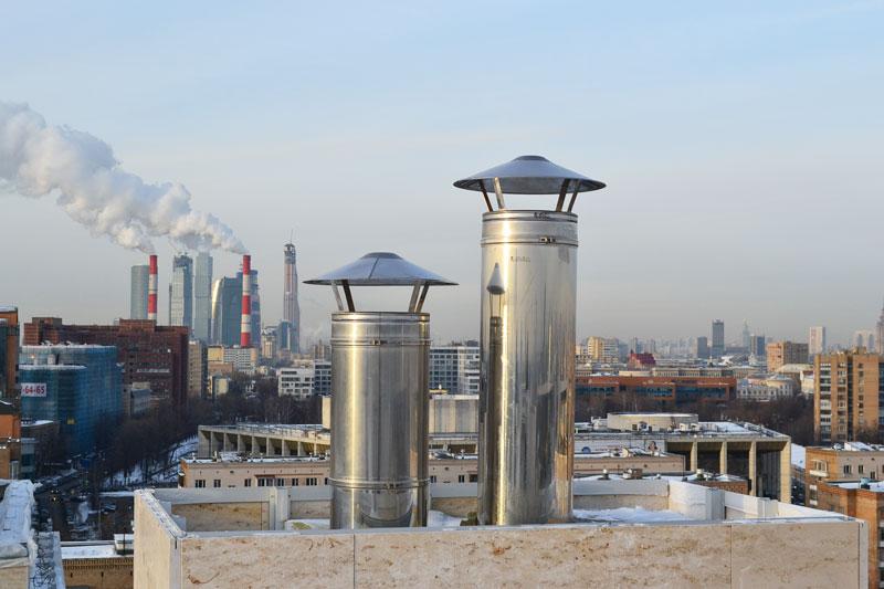Дымоходы для каминов в пентхаусах на 2-ой Фрунзнеской в Москве
