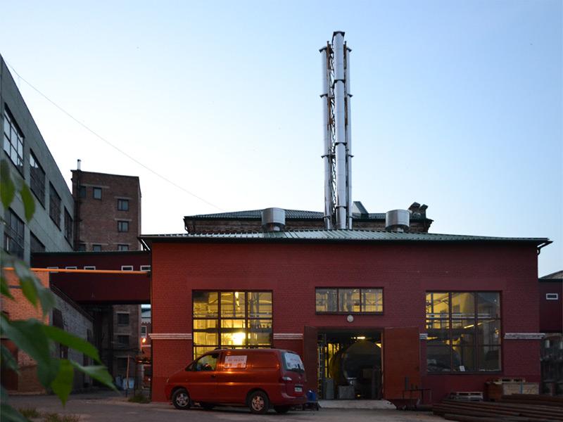 Три утепленных дымохода высотой 17 метров, Павловопосадская мануфактура