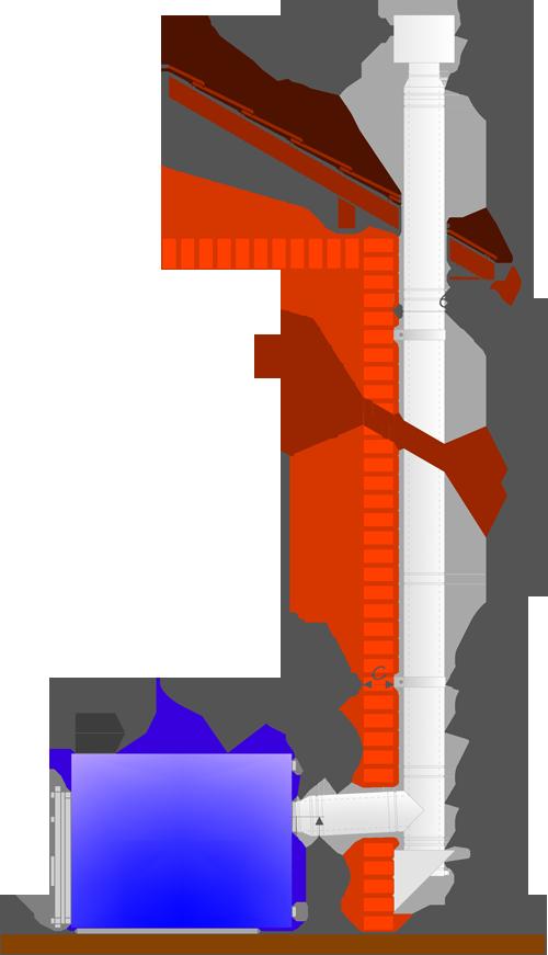 Типовые решения дымоходов козырек на трубу дымохода чертежи
